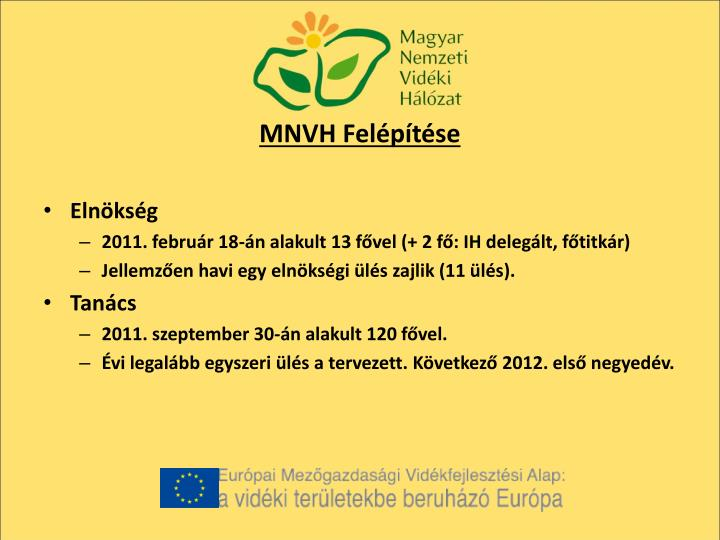 MNVH Felépítése