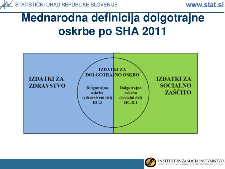 Mednarodna definicija dolgotrajne oskrbe po SHA 2011