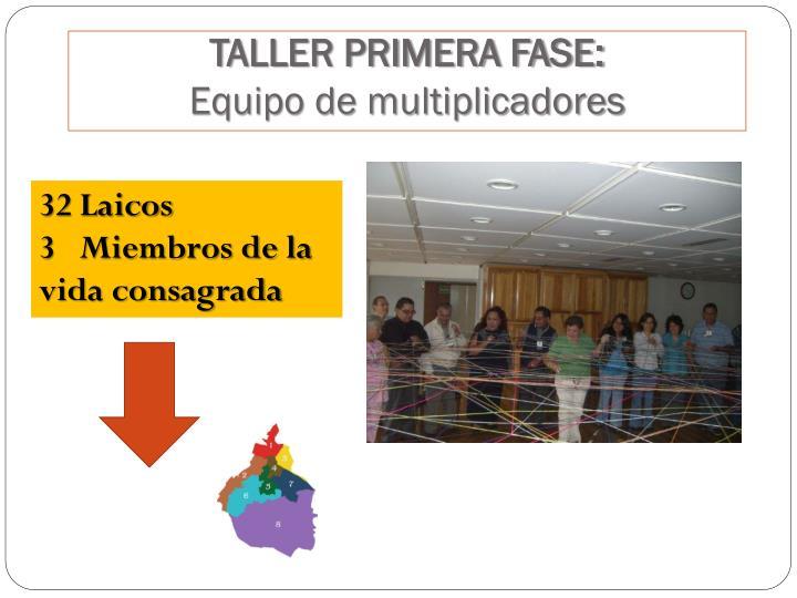 TALLER PRIMERA FASE: