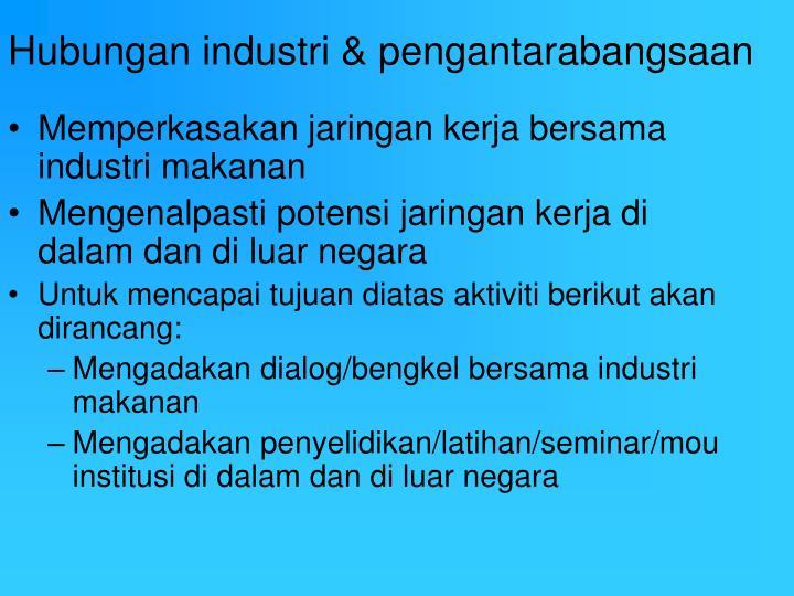 Hubungan industri & pengantarabangsaan