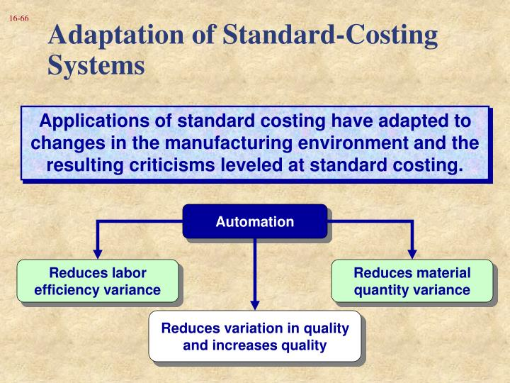 Adaptation of Standard-Costing Systems