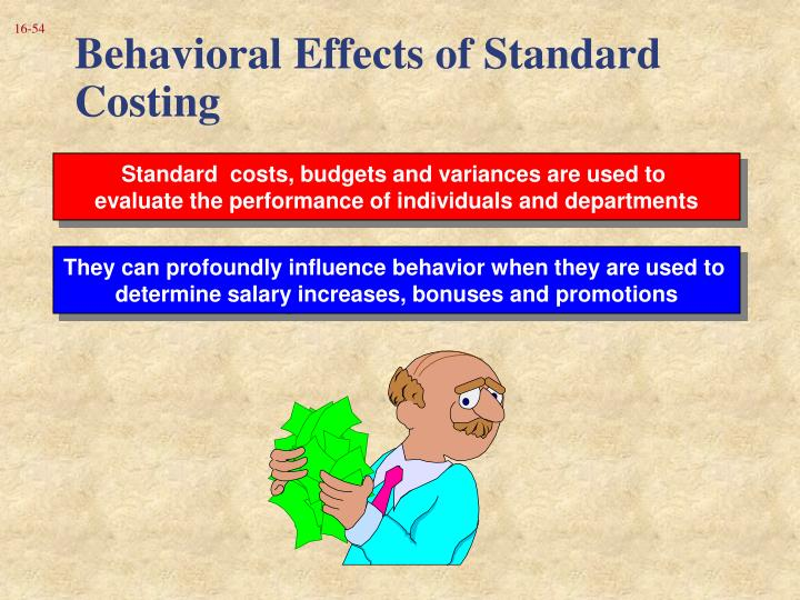 Behavioral Effects of Standard Costing