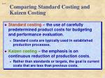 comparing standard costing and kaizen costing