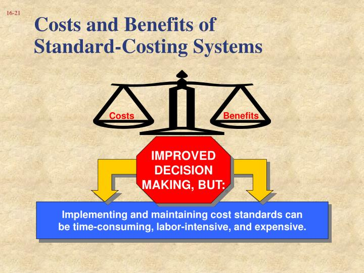 Costs and Benefits of