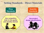 setting standards direct materials