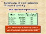 significance of cost variances when to follow up2