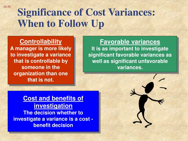 Significance of Cost Variances:  When to Follow Up