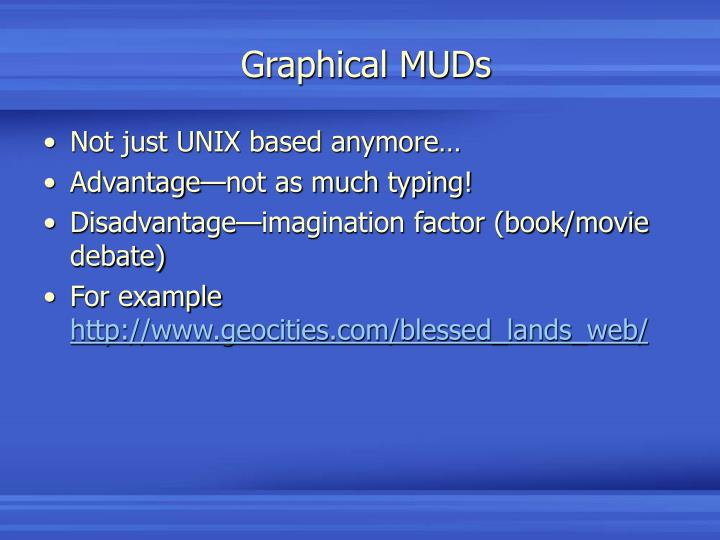 Graphical MUDs