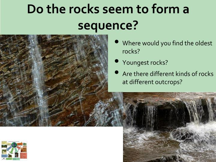 Do the rocks seem to form a sequence?