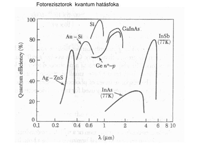 Fotorezisztorok  kvantum hatásfoka