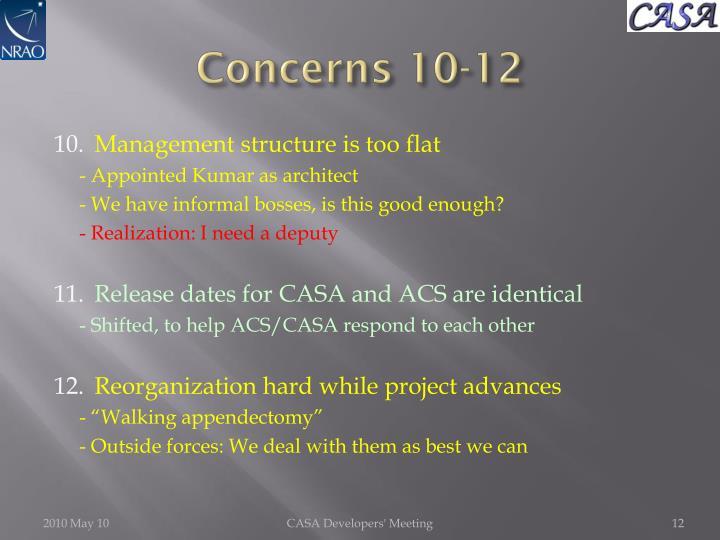 Concerns 10-12