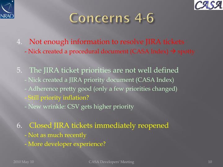 Concerns 4-6