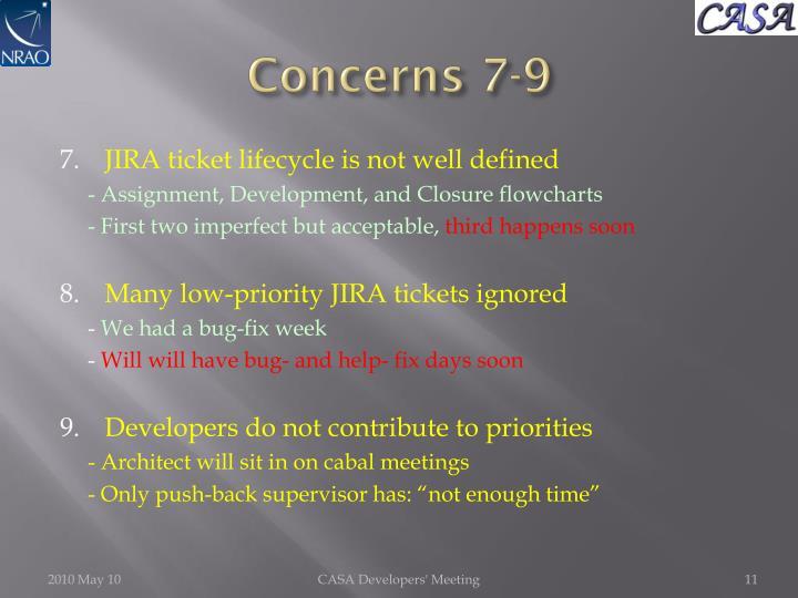 Concerns 7-9