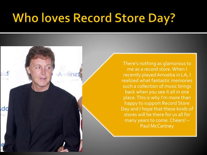 Who loves record store day