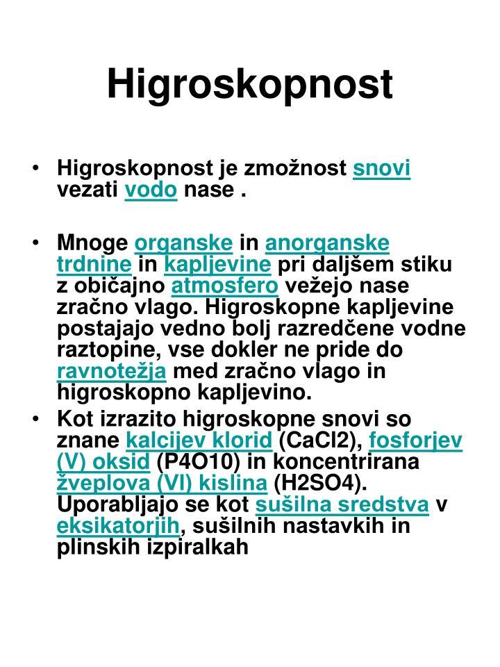 Higroskopnost