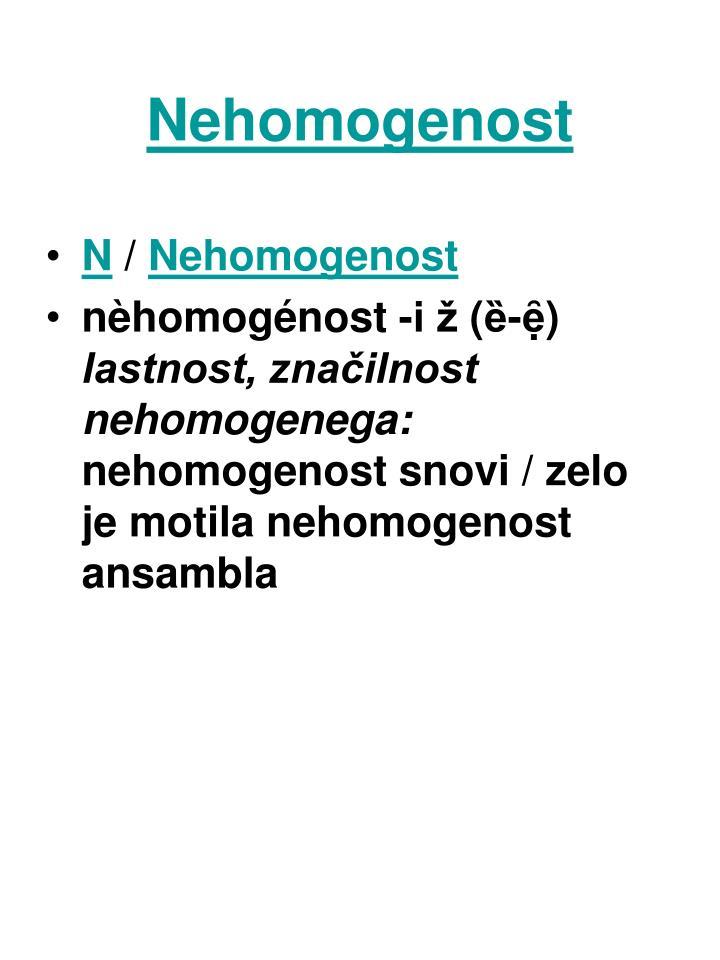 Nehomogenost