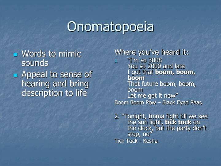 Words to mimic sounds