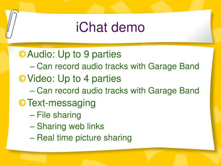 iChat demo