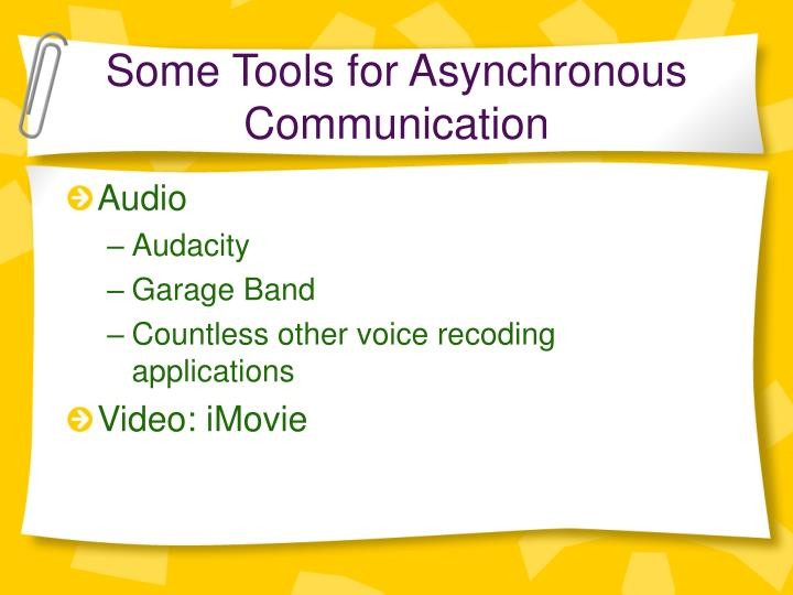Some Tools for Asynchronous Communication