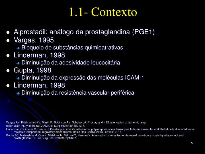 1.1- Contexto
