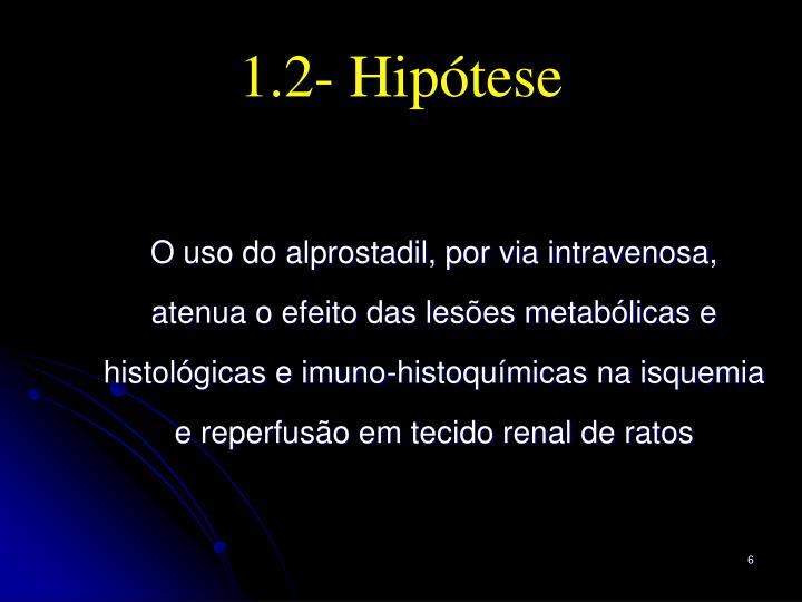 1.2- Hipótese