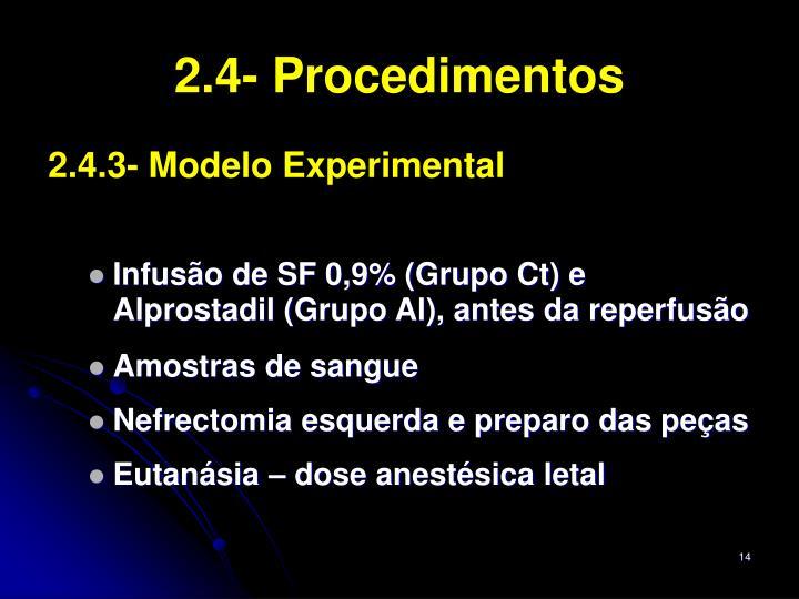 2.4- Procedimentos