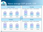 above average gdp growth cee