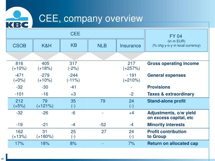 CEE, company overview
