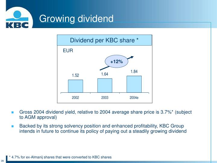 Growing dividend