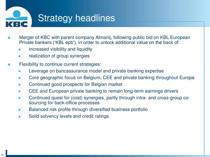 Strategy headlines