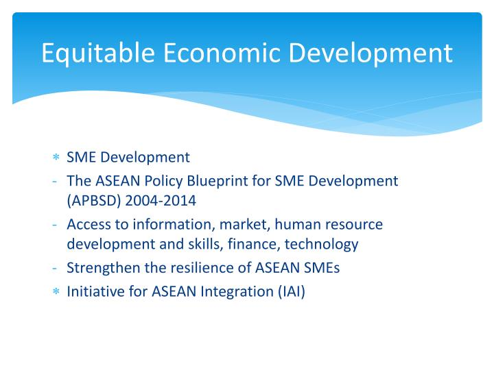 Equitable Economic Development