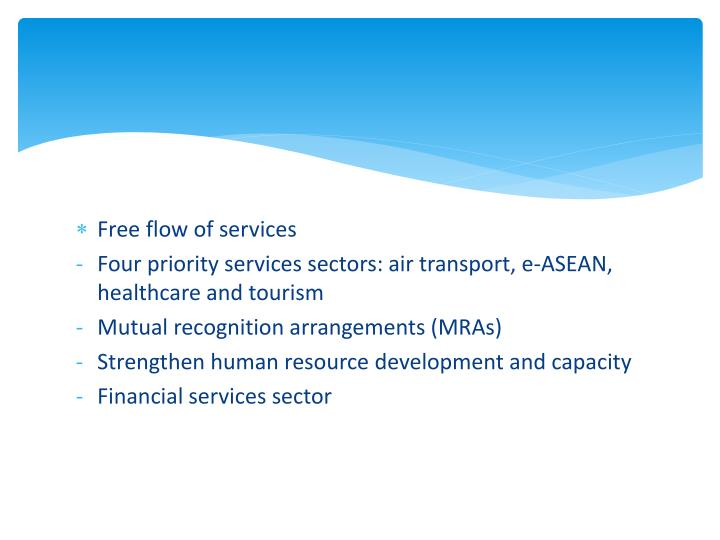 Free flow of services