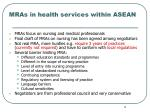 mras in health services within asean