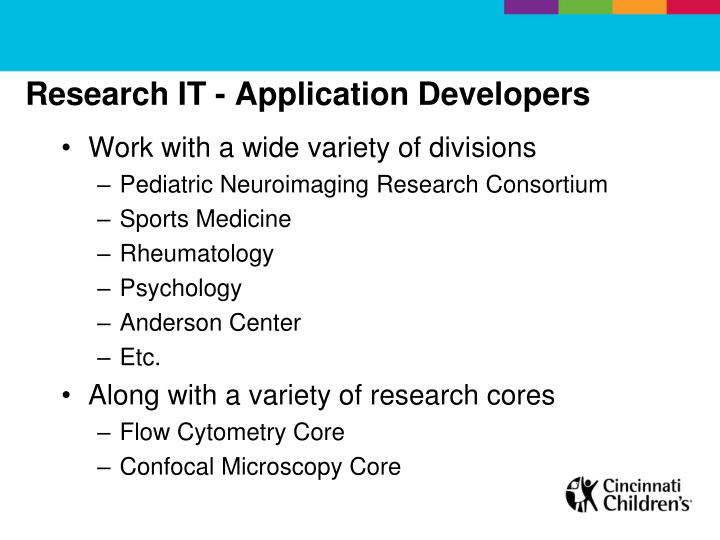 Research IT - Application Developers