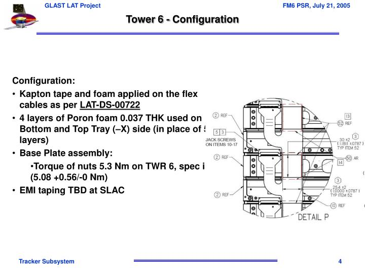 Tower 6 - Configuration
