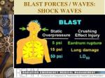 blast forces waves shock waves