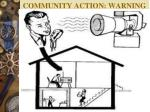 community action warning