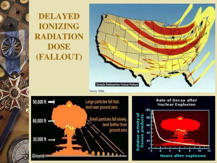 DELAYED IONIZING RADIATION DOSE (FALLOUT)