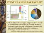 event at a nuclear facility