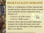 high fatality domains