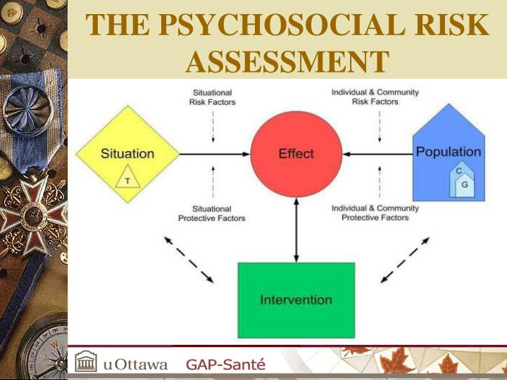 THE PSYCHOSOCIAL RISK ASSESSMENT