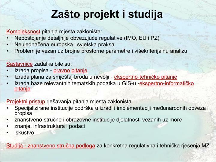 Zašto projekt i studija