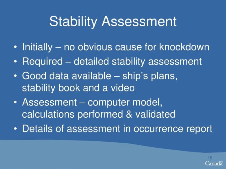 Stability Assessment