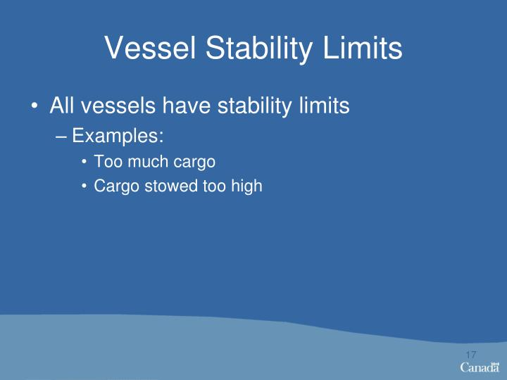 Vessel Stability Limits