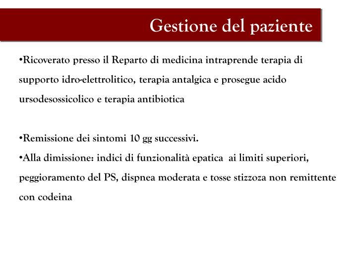 Gestione del paziente