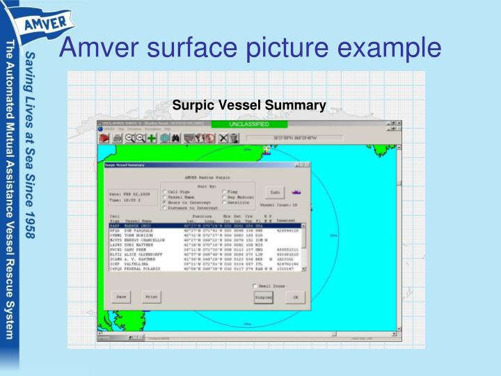 Amver surface picture example