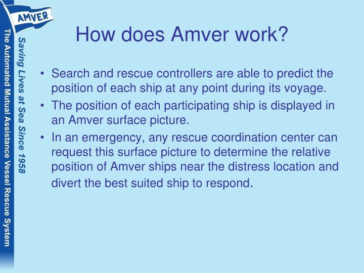 How does Amver work?