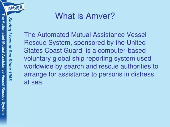 What is Amver?