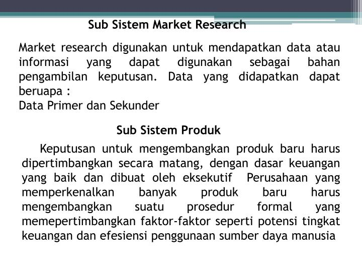 Sub Sistem Market Research