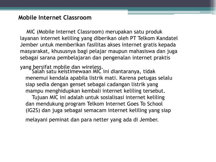 Mobile Internet Classroom
